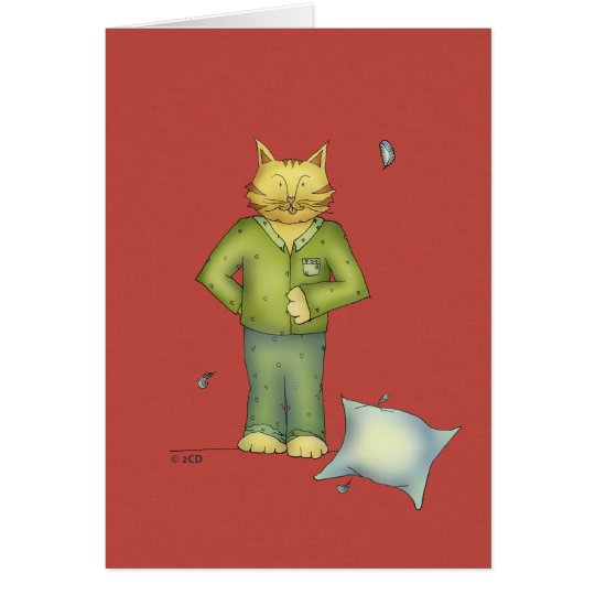 You're the Cat's Pyjamas Greeting card