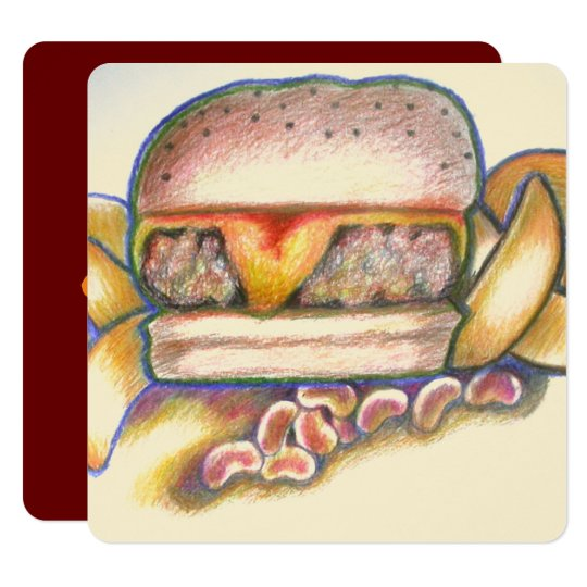 you're the cheese to my hamburger card