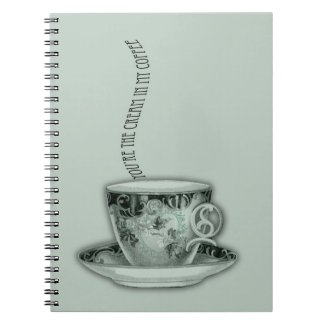 You're the Cream in My Coffee Valentine Spiral Note Book