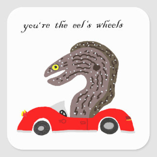 You're the Eel's Wheels Square Sticker