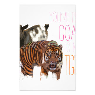 You're the goat to my tiger custom stationery