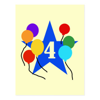 You're the Star 4th Birthday Tshirts and Gifts Postcard