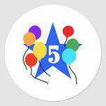 You're the Star 5th Birthday Round Stickers