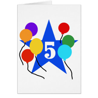 You're the Star 5th Birthday Tshirts and Gifts Greeting Card