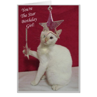 You're The Star, Birthday Girl! Card