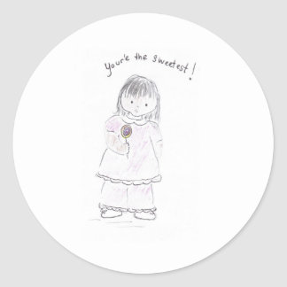 You're_the_sweetest Classic Round Sticker