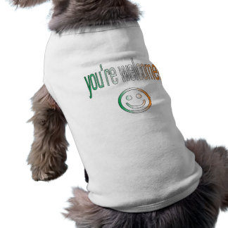 You're Welcome! Ireland Flag Colors Doggie Tshirt