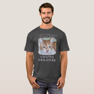 """You're Welcome"" Quirky, Funny, Cute Cat T-Shirt"