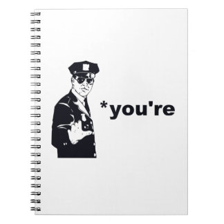 You're Your Grammar Police Spiral Note Books