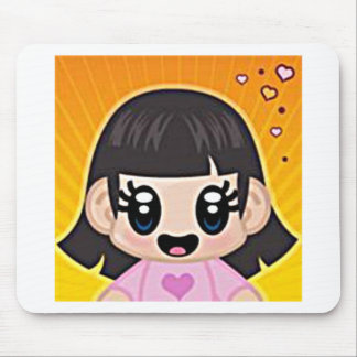 yourri girl pink mouse pad