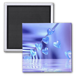 Yours Bluely Square Magnet