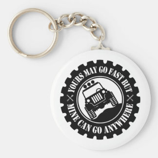Yours May Go Fast But Mine Can Go Anywhere Basic Round Button Key Ring