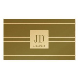 YourSpecialty Antique Gold Paper Striped Pendant Double-Sided Standard Business Cards (Pack Of 100)