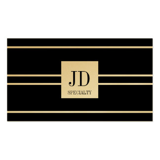 YourSpecialty Black Striped Pendant Gold Paper Pack Of Standard Business Cards