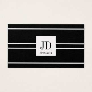 YourSpecialty Black Striped Pendant Platinum Paper Business Card