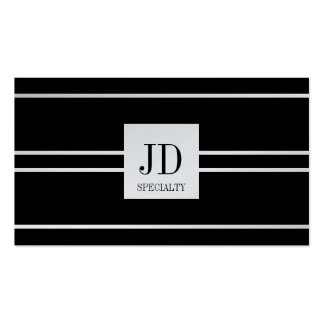 YourSpecialty Black Striped Pendant Platinum Paper Pack Of Standard Business Cards