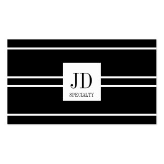 YourSpecialty Black/White Striped Pendant Pack Of Standard Business Cards
