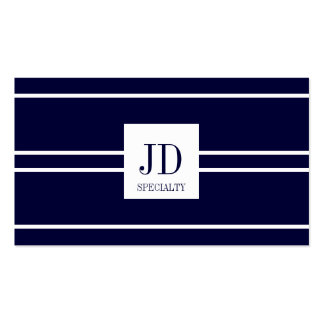 YourSpecialty Dark Blue/White Striped Pendant Pack Of Standard Business Cards