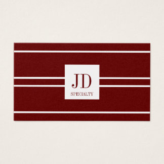 YourSpecialty Dark Cherry Stripe Pendant GoldPaper Business Card