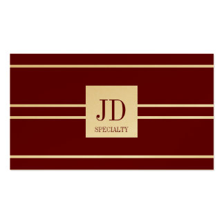 YourSpecialty Dark Cherry Stripe Pendant GoldPaper Pack Of Standard Business Cards