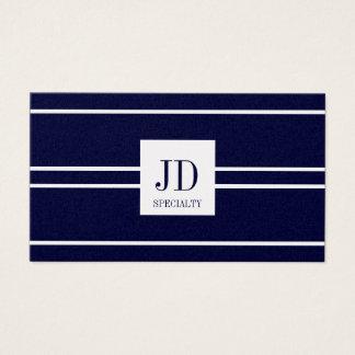 YourSpecialty Platinum Dark Blue Striped Pendant