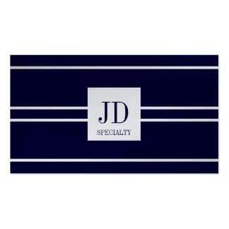 YourSpecialty Platinum Dark Blue Striped Pendant Pack Of Standard Business Cards