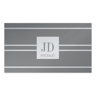 YourSpecialty Platinum Striped Pendant Double-Sided Standard Business Cards (Pack Of 100)