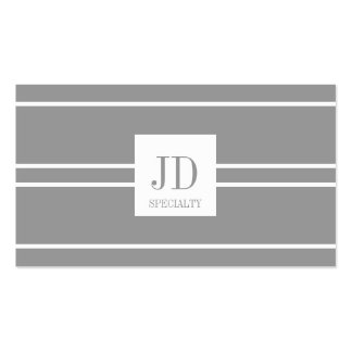 YourSpecialty Silver/White Striped Pendant Pack Of Standard Business Cards