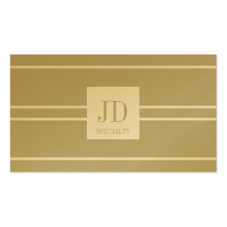 YourSpecialty Tan/White Striped Pendant Gold Paper Pack Of Standard Business Cards