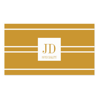 YourSpecialty Yellow Gold/White Striped Pendant Pack Of Standard Business Cards
