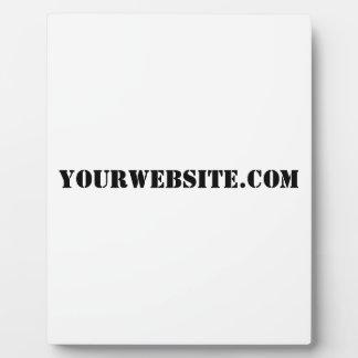 YourWebSite.com Display Plaque