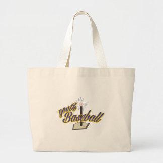 Youth Baseball Jumbo Tote Bag