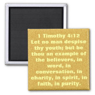 Youth encouragement Bible verse 1 Timothy 4;12 Refrigerator Magnet