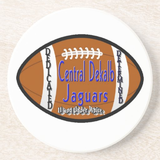 Youth Football Alliance Central Dekalb Jaguars Whi Drink Coaster