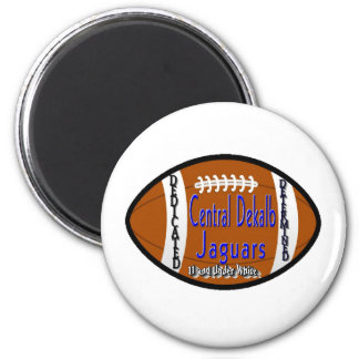 Youth Football Alliance Central Dekalb Jaguars Whi Refrigerator Magnets