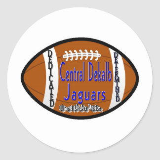 Youth Football Alliance Central Dekalb Jaguars Whi Round Sticker
