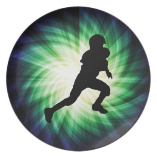 Youth Football Dinner Plate