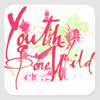 Youth Gone Wild Square Sticker