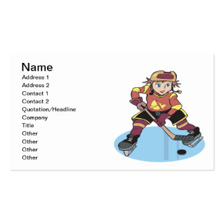 Youth Hockey Pack Of Standard Business Cards