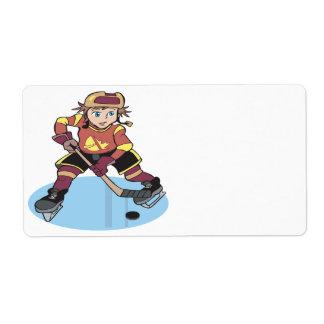 Youth Hockey Shipping Label