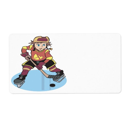 Youth Hockey Shipping Label