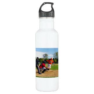Youth League Baseball Batter Hitting Ball 710 Ml Water Bottle