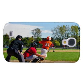Youth League Baseball Batter Hitting Ball Galaxy S4 Case