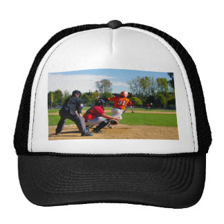 Youth League Baseball Batter Hitting Ball Trucker Hat