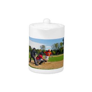 Youth League Baseball Batter Hitting Ball
