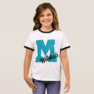 Youth Mohave Wildcats - Glitter 'M' tshirt