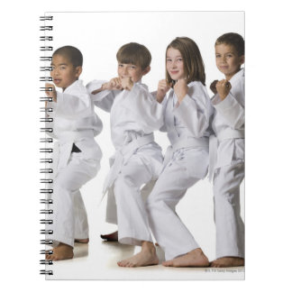 youth practicing martial arts 2 spiral notebook