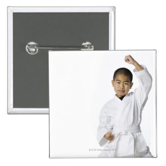 youth practicing martial arts 3 15 cm square badge