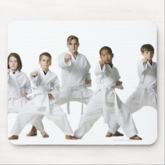 youth practicing martial arts 4 mouse mat