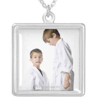 youth practicing martial arts custom necklace